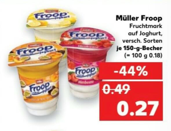 Kaufland (bundesweit)... Müller Froop zu 0,27€
