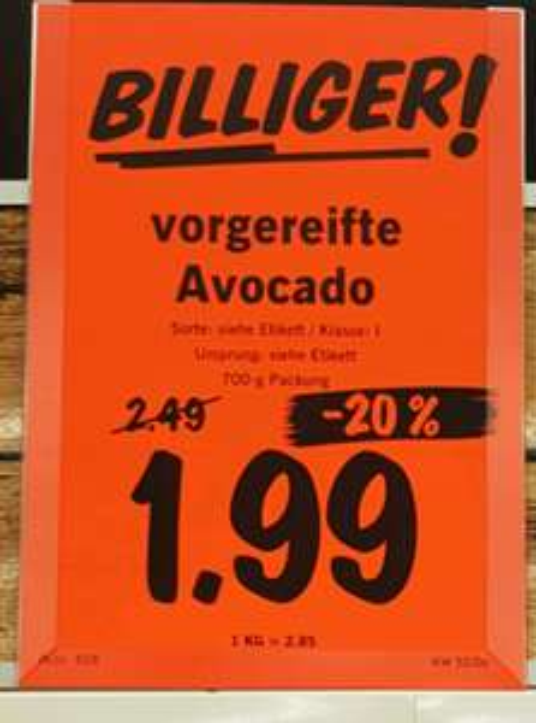 [Lokal? Lidl Berlin] 1 Netz Avocados (6 Stück) 700g