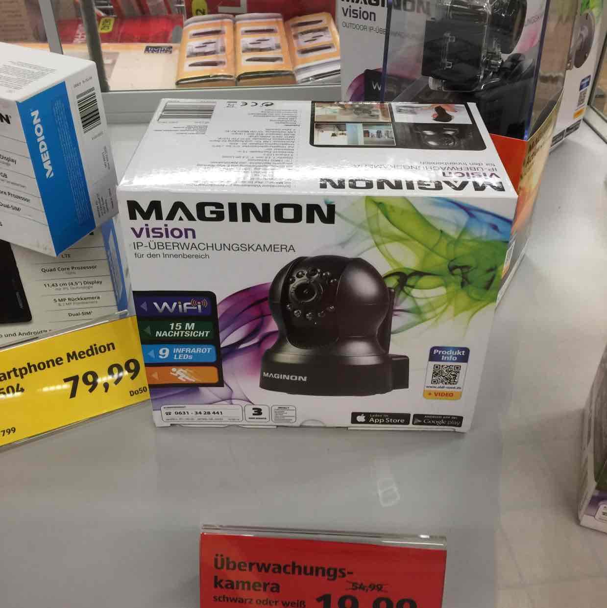 Maginon IP Überwachungskamera für den Innenbereich Aldi Süd Ravensburg