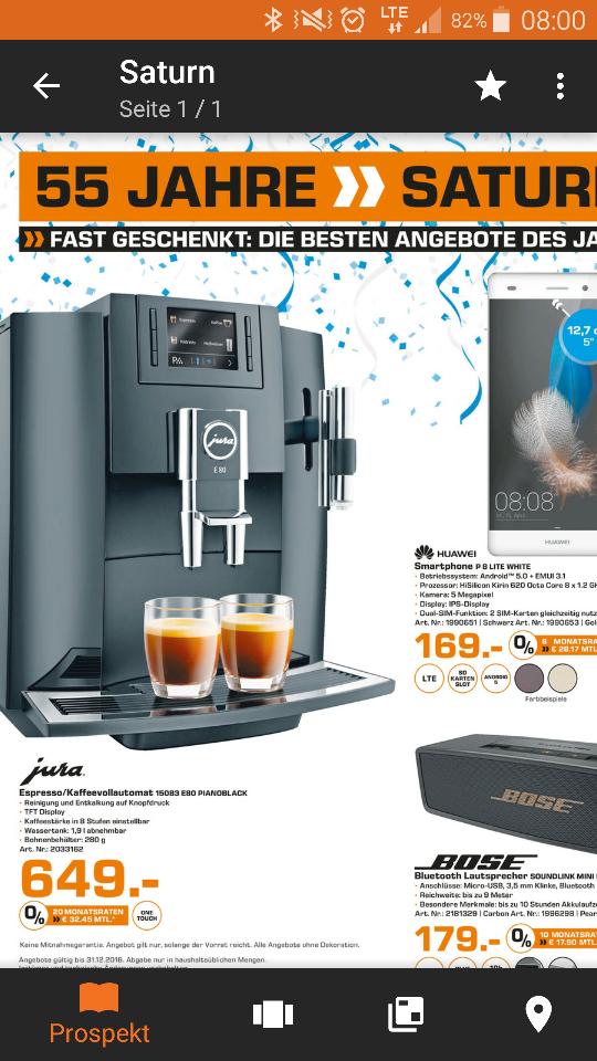 [Saturn Regensburg] Jura E80 Piano Black Kaffeevollautomat