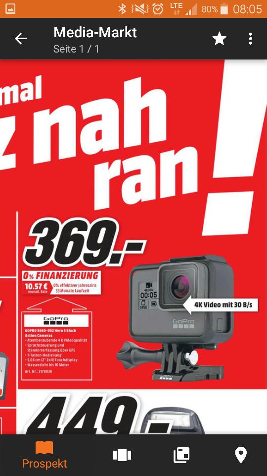 [MediaMarkt Weilheim] GoPro Hero 5 black