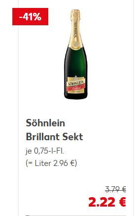 Kaufland Söhnlein Brillant Sekt 0,7L versch. sorten