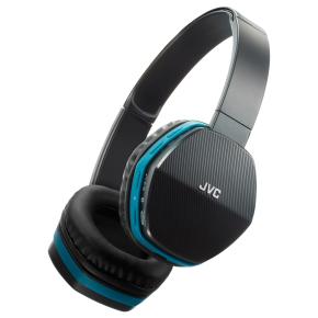 [NBB] JVC HA-SBT5-A (schwarz/blau) - Bluetooth On-Ear-Kopfhörer (Bluetooth 3.0, 4-Tasten-Fernbedienung, Akku)