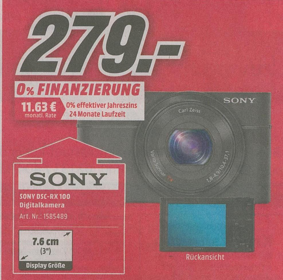 [Lokal Neuss] Sony DSC-RX 100 Digitalkamera