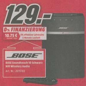 [Lokal Neuss] Bose SoundTouch 10 kabelloses Music System schwarz
