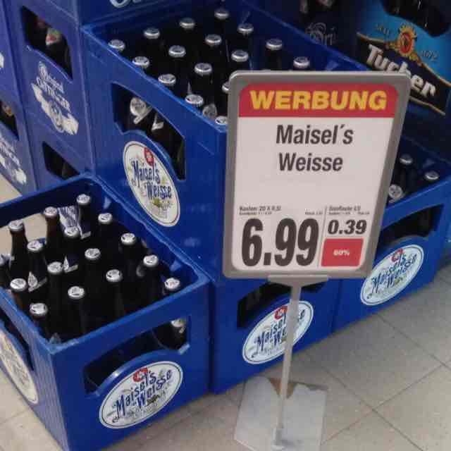 Maisel's Weisse 20 x 0,5 nur 6,99€ EDEKA BAD-Mergentheim