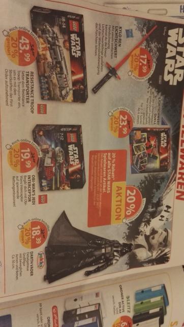 Lego StarWars 75135 20% Müller auch online + Lokal
