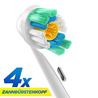 [Amazon] ORAX Aufsteckbürsten für Oral B elektrische Zahnbürsten, 4 Stück