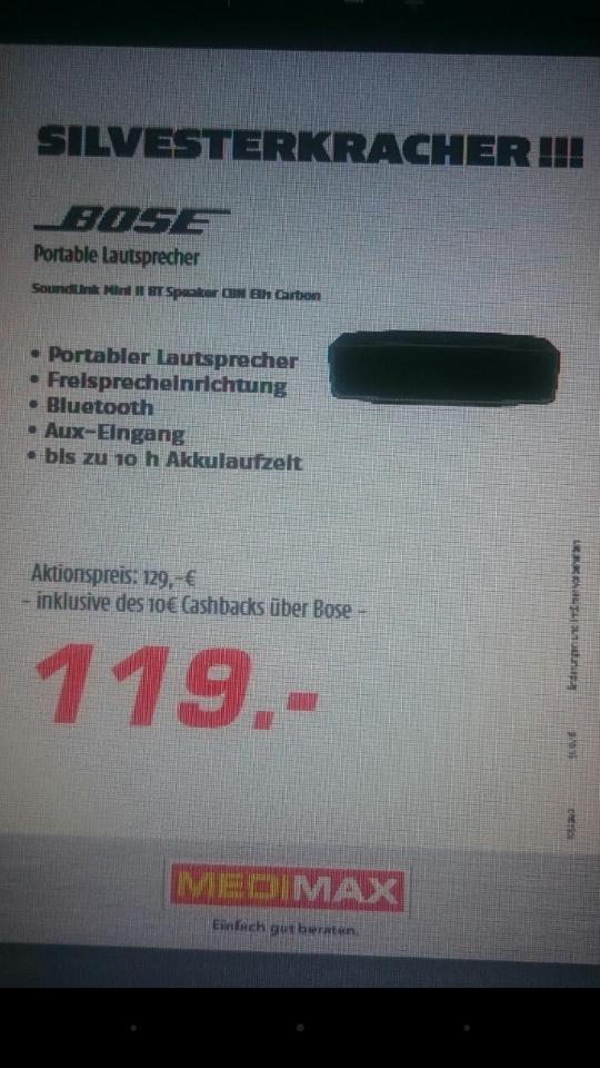 Bose Soundlink Mini II für 119€ im MediMax Berlin in den Wilmersdorfer Arkaden
