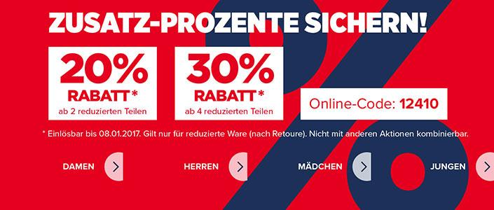 K&L Ruppert 20%/30% online-Rabatt auf Sale-Artikel