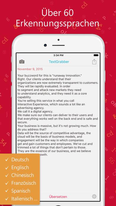 (iOS) ABBY TextGrabber / Texterkennung nur heute gratis statt 2,99 Euro