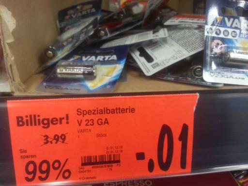 Kaufland Weiden Varta 2V23GA Batterien