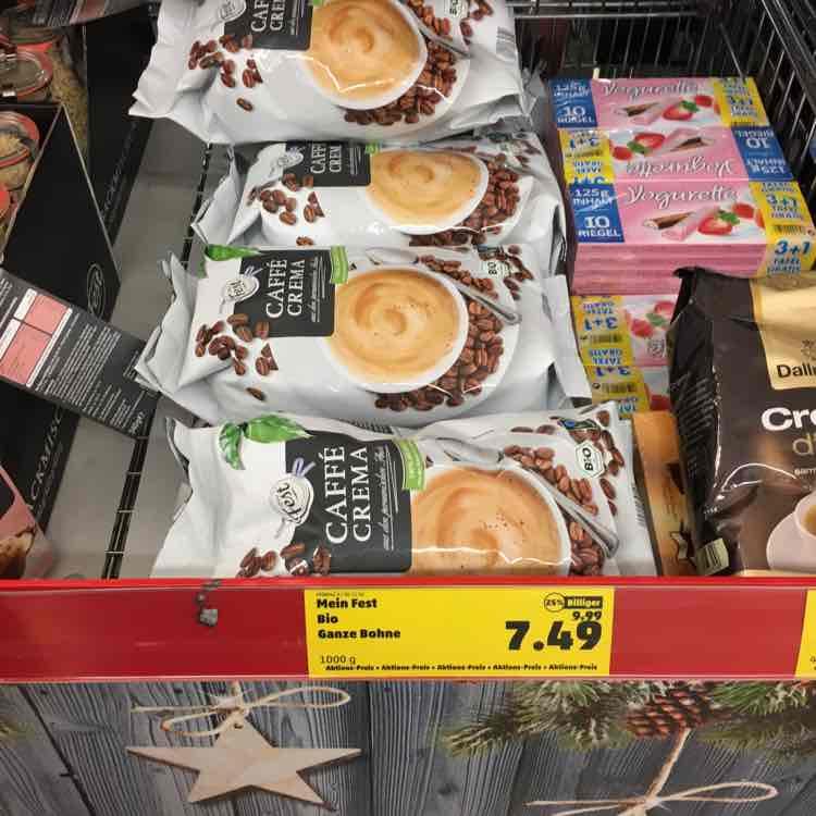 Bio Fairtrade Bohnenkaffee 1kg bei Penny Bundesweit
