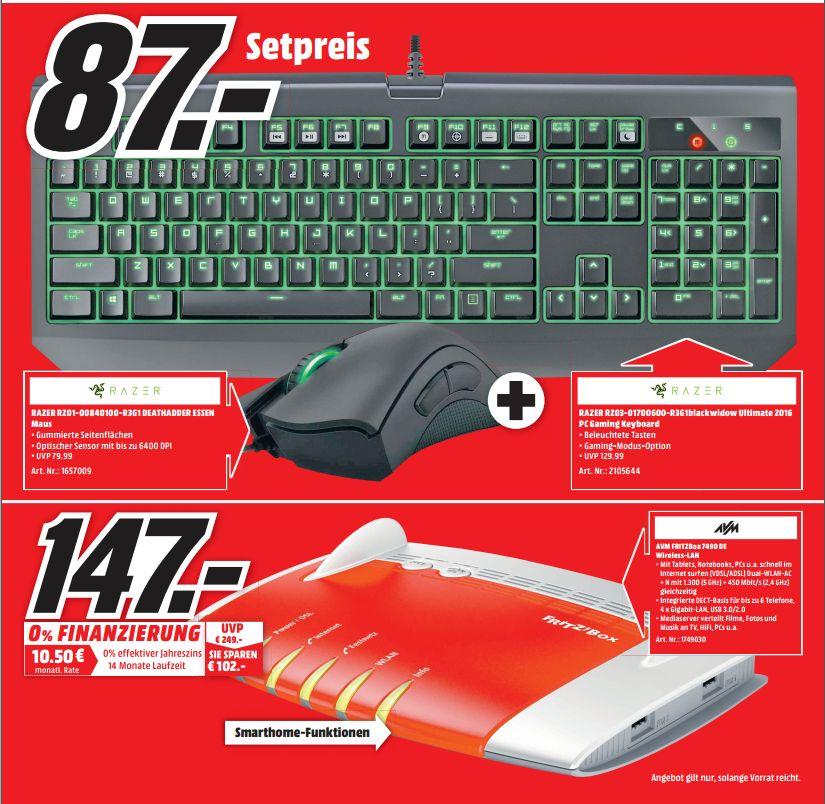 [Sammeldeal Lokal Mediamarkt Porta ab 02.01] Fritz Box 7490 für 147,-€ / Sonos Play 1 für 157,-€ Black Widow Ultimate + Deathadder Maus für 87,-€ und weiteres....