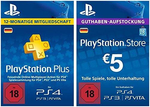 PS Plus Mitgliedschaft 365 Tage + 5 Euro PSN Guthaben oder 500.000 GTA$ (Amazon)
