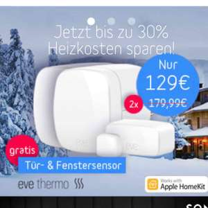 2 Elgato Eve Thermo + 1 Door&Window gratis