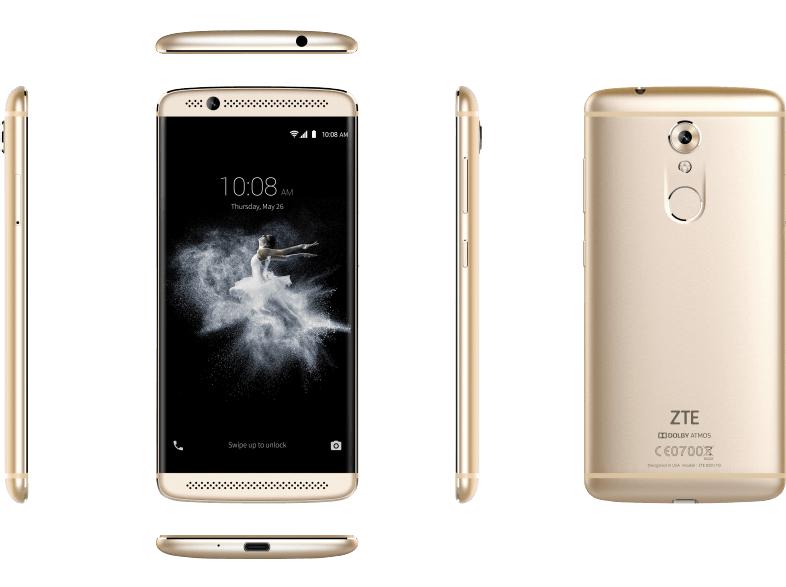ZTE Axon 7 Mini, Smartphone, 32 GB, 5.2 Zoll, Gold, LTE