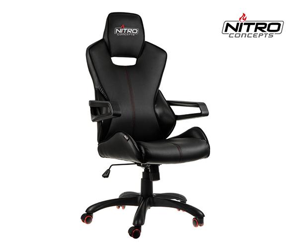 [One] Nitro Concepts E200 Race Gaming Stuhl schwarz carbon