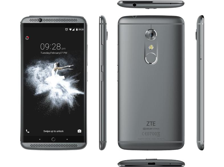 [Saturn] ZTE Axon 7, Smartphone, 64 GB, 5.5 Zoll, Grau, LTE