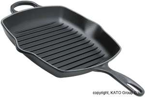 [Knives and tools] Le Creuset Grillpfanne 26 cm Signature viereckig, schwarz, idealo 104 Euro (in blau)