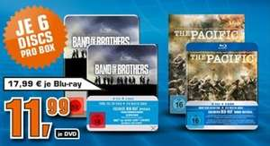 Band of Brothers & The Pacific für je 11,99€ (DVD) oder 17,99€ (Blu-Ray), Saturn bundesweit