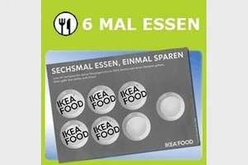 Ikea Bonuskarte - 6 Hauptgerichte essen - eins umsonst bekommen (z.B. Rumpsteak+ Spargel+ Kartoffel statt 9,90€ für umme)