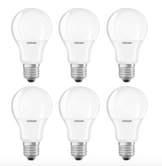 (Voelkner) Osram LED E27 9 W = 60 W 6er Pack für 13,85€