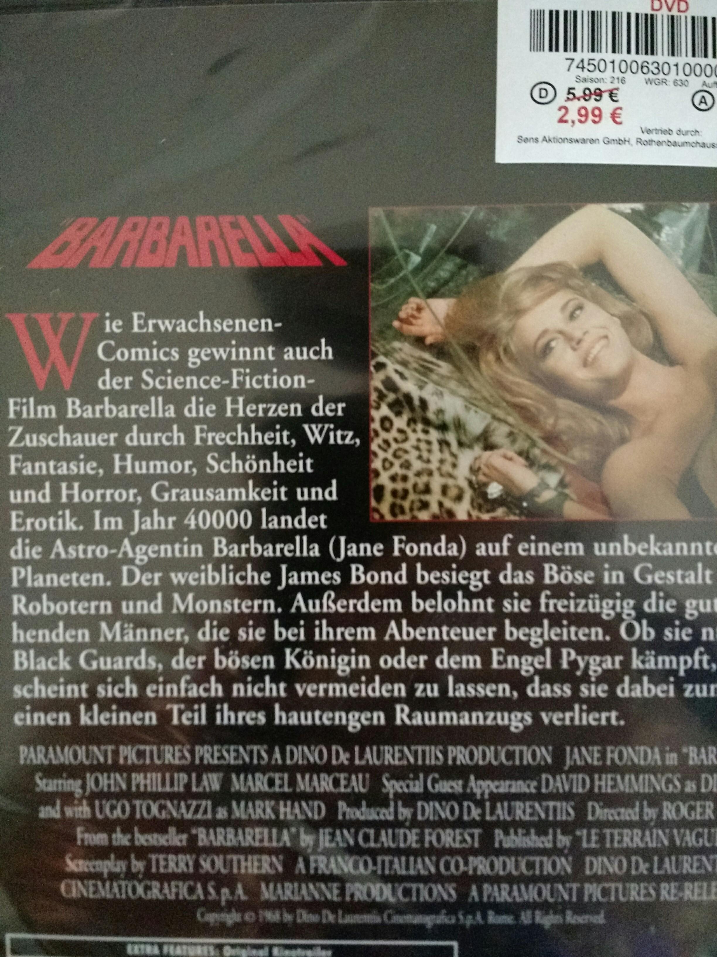 [Kik... bundesweit?] Barbarella DVD für günstig!
