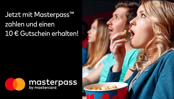 UCI Kino Tickets kaufen und 10€ Gutschein für Speisen oder Tickets bekommen bei Zahlung mit Masterpass