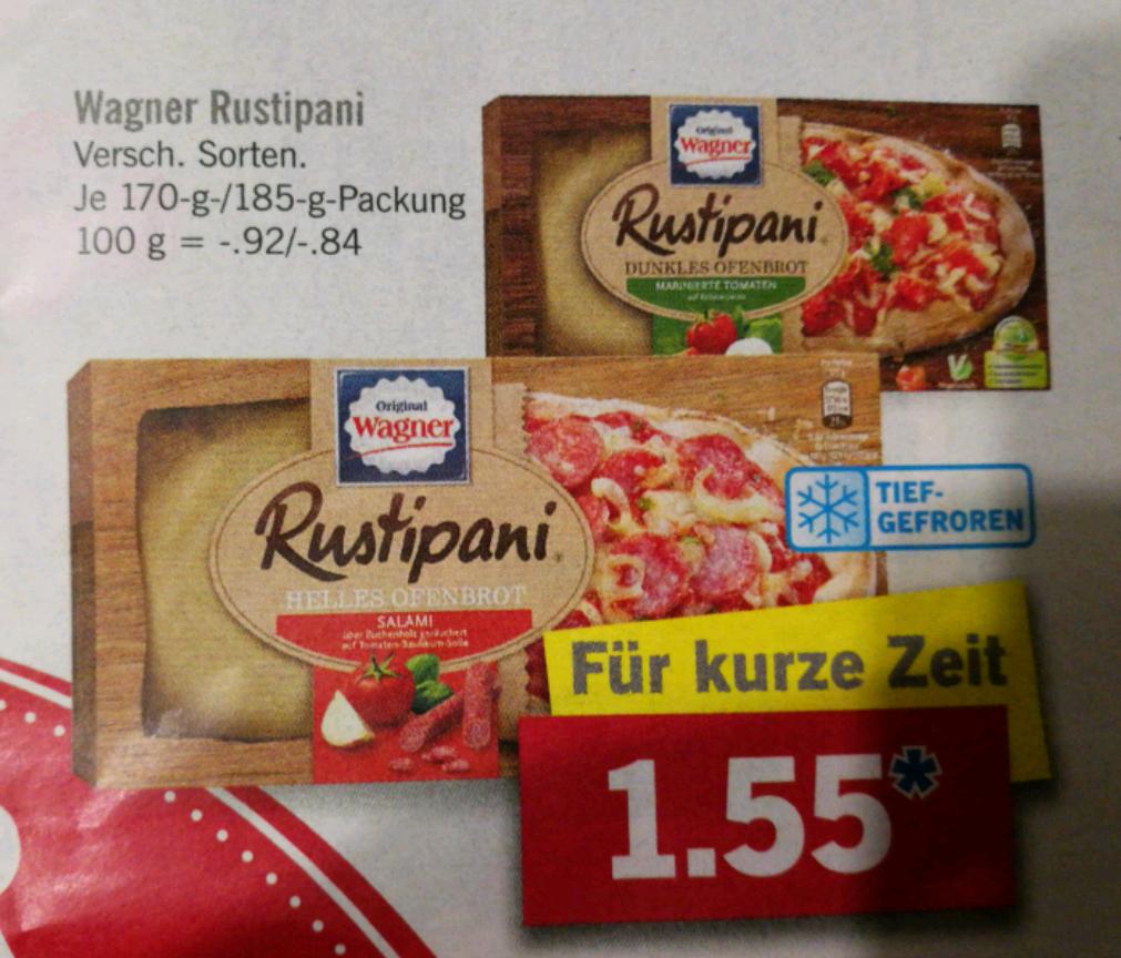 [LIDL] Wagner Rustipani verschieden Sorten je 1,55€