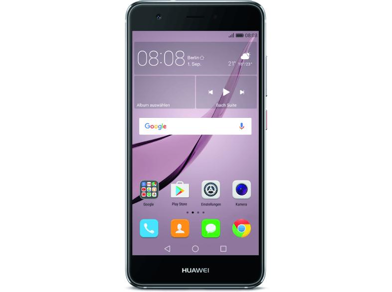 Huawei Nova LTE + Dual-SIM (5'' FHD IPS, Snapdragon 625 Octacore, 3GB RAM, 32GB eMMC, 12MP + 8MP Kamera, 3020mAh, Android 6 -> 7) für 284,86€ [Saturn]