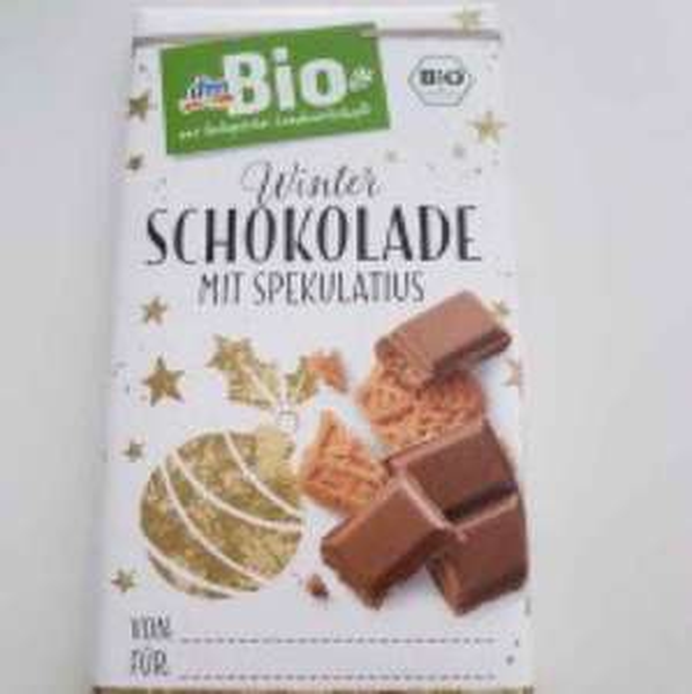 (Lokal Paderborn) DM Bio Winterschokolade mit Spekulatius