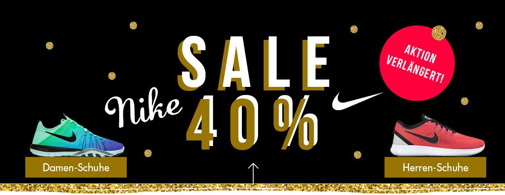 Verlängert! 40 % SALE auf NIKE bei der [my-sportswear.de]. Alle Nike Artikel direkt reduziert! Schuhe, Textilien, Taschen... KEIN Mindestbestellwert!