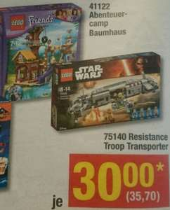 Lego Star Wars Resistance Troop Transporter 75140 und Friends Abenteuercamp Baumhaus 41122 ab 05.01 in der Metro