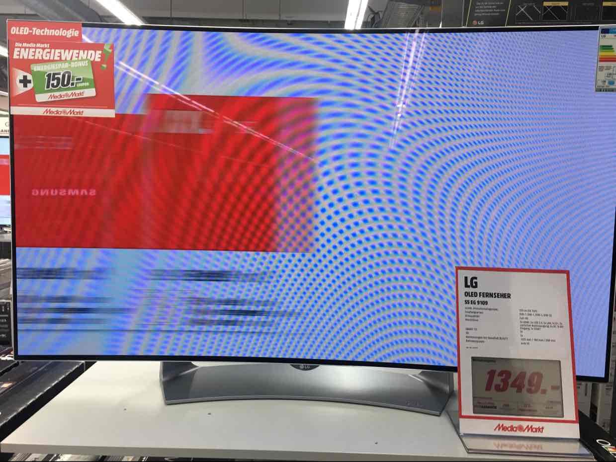 [Lokal] Media Markt Köln Kalk LG 55 EG 9109 für 1349,- + 150,- Coupon