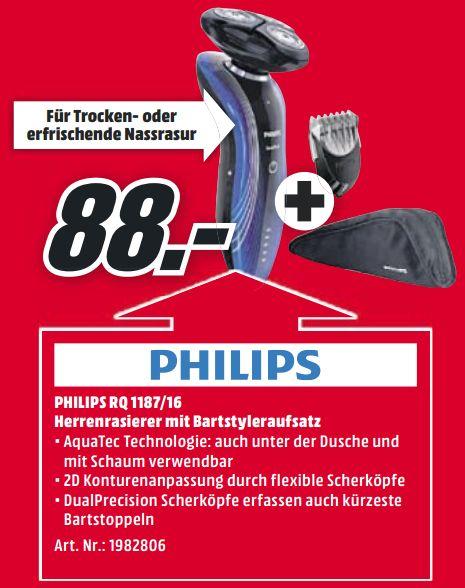 [Mediamarkt] Philips RQ1187/16 SensoTouch 2D Nass- & Trockenrasierer (Bartstyler) für 88,-€ Versandkostenfrei**Angebot ist schon Online**