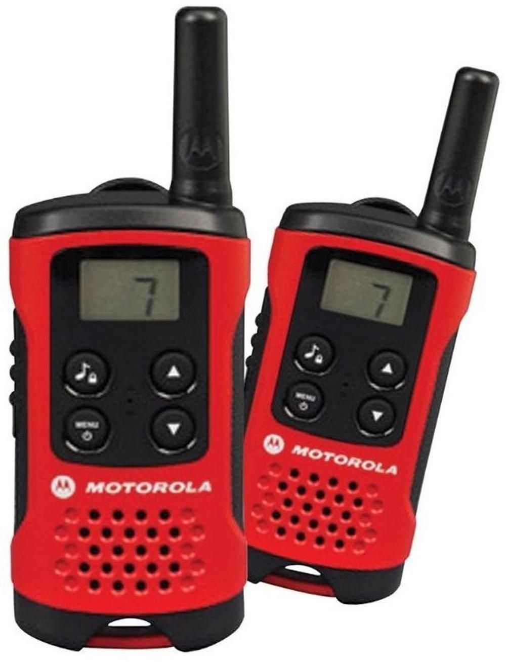 Walkie Talkie Motorola TLKR T40 PMR Funkgerät mit LC-Display rot