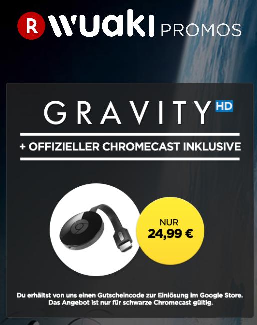 Google Chromecast 2 mit Gravity bei wuaki