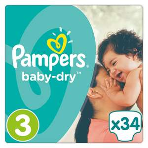 4 x 34 Pampers baby-dry Windeln, Gr. 3, Midi