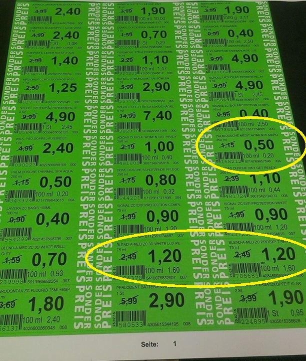 (ROSSMANN) Green Label Preise ab 04.01.17
