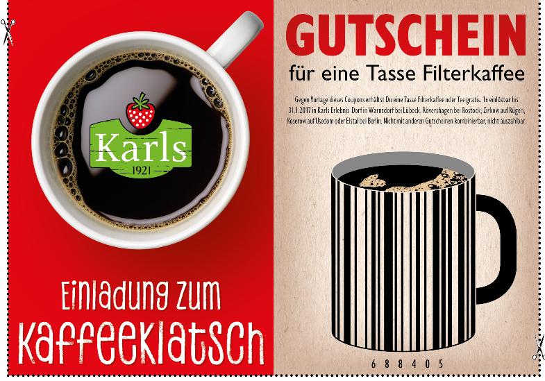 [Karls] Gratis Kaffee bis 31.01.2017
