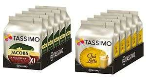 5 Pack Tassimo TDisc Chai Latte Jacobs Caffé Crema XL Kaffee Tee Kapseln Getränk