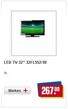 "REWE Funai LED TV 32"" 32FL552/10 für 267€"