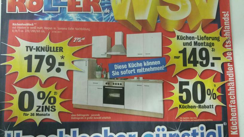 Roller WSV Küchenblock für 179€ !!!