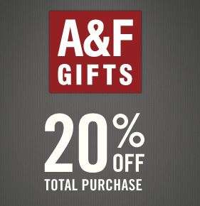 Abercrombie & Fitch Online Store -20% + VSK frei ab 50 EUR