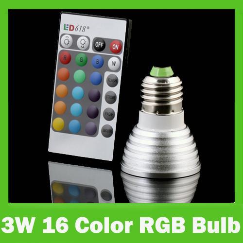 Farbwechsel LED Lampe + Fernbedienung - 3Watt @eBbay Chinahändler