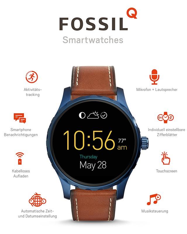 Fossil Q FTW2106 Q Marshal Smartwatch  allerdings mit 5 Wochen Lieferzeit