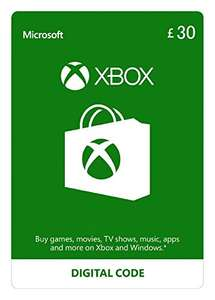Xbox Live £30 Credit (35,19 €) für £25.90 (29,32 €) @ amazon.co.uk