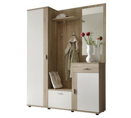"""[XXXL] Kompakte Garderobe """"Patent"""" - Sonomia eiche/weiß (5 teilig)"""