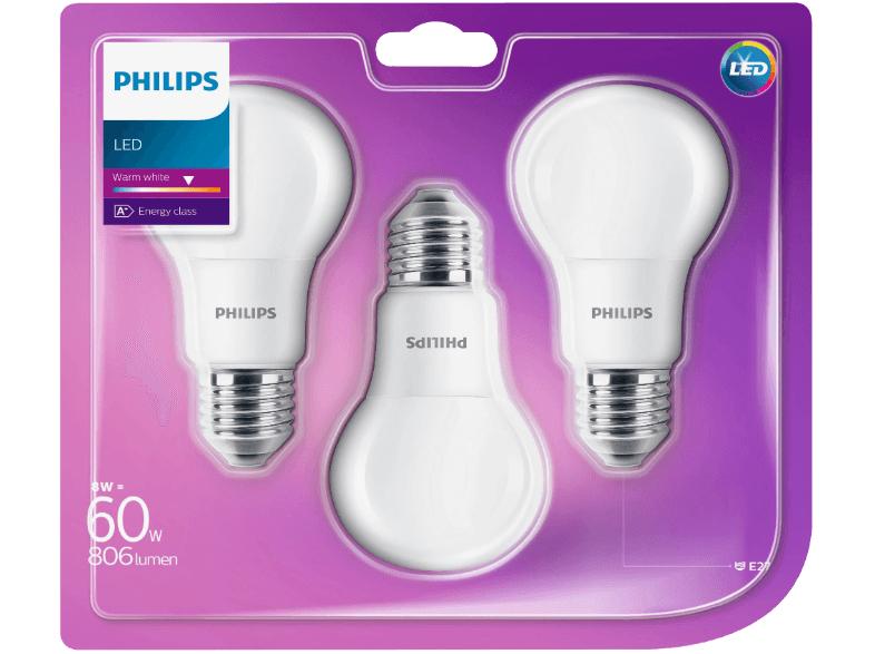 [lokal] ElectronicPartner - Philips LED Lampe 8W E27 3erPack für 6,99€ statt 9,99€